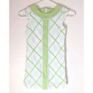 Girls KC Parker Lime Green Dress 8 Easter